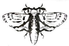 墨水被画的moath 库存照片