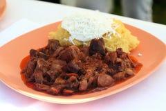 墩牛肉炖煮的食物 免版税库存照片