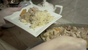 墩牛肉用被炖的圆白菜 影视素材