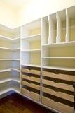 壁橱空的结构 库存图片