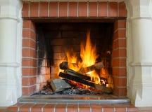壁炉作为家具 图库摄影