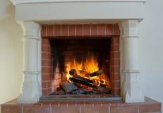 壁炉作为家具 库存图片