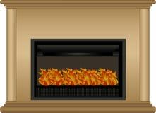 壁炉例证 免版税库存照片