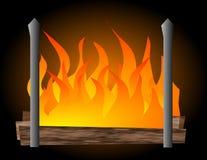 壁炉例证 库存图片