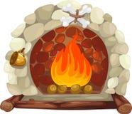壁炉向量 免版税库存照片