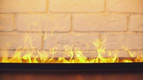 壁炉在家 方便的房子 温暖的空间 影视素材