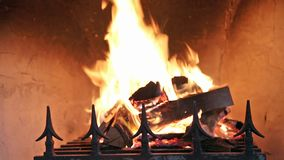壁炉在家 影视素材