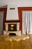 壁炉地毯 免版税库存图片