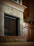 壁炉壁炉台 免版税图库摄影