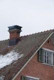 壁炉房子 免版税库存照片
