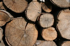壁炉木头 免版税库存照片