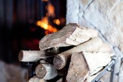 壁炉木柴 库存照片