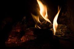 壁炉火焰 免版税库存照片