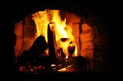 壁炉火焰 免版税图库摄影
