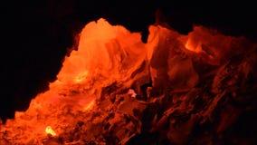壁炉火,火焰,灼烧的火 股票视频
