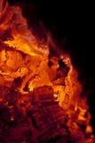 壁炉炭烬 库存照片