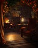 壁炉玫瑰葡萄酒 免版税库存照片