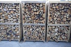壁炉的木柴 免版税库存图片
