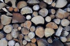 壁炉的木柴 库存图片