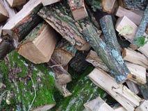 壁炉的木头 库存照片