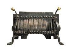 壁炉的铁花格老古董 免版税库存图片
