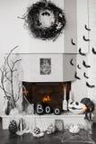 壁炉装饰 库存照片