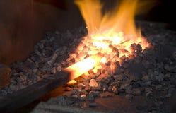 壁炉边铁 图库摄影