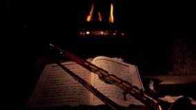 壁炉,喇叭,音乐 股票视频