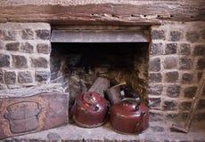壁炉水壶 免版税图库摄影