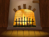 壁炉 库存例证