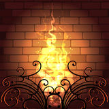 壁炉 皇族释放例证