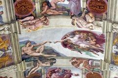 壁画创世纪 库存照片