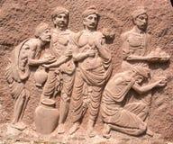 壁画印地安人 免版税库存图片
