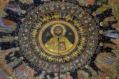 壁画和绘画在Bachkovo修道院里 免版税库存图片