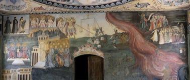 壁画和绘画在Bachkovo修道院里 免版税库存照片