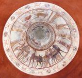 壁画国王thracian坟茔 库存图片