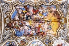 壁画圣诞老人Caterina在亚历山德里亚d ` Egiggo教会里在巴勒莫 库存照片