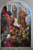 壁画在圣斯蒂芬` s大教堂里在斯库台,阿尔巴尼亚 库存照片