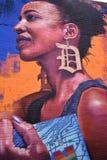 壁画在底特律 免版税图库摄影