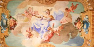 壁画在Stift Melk,奥地利-科学 免版税库存图片