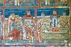 壁画幽默修道院绘画 免版税库存照片