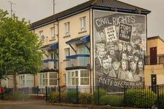 壁画 Derry伦敦德里 北爱尔兰 王国团结了 免版税库存图片