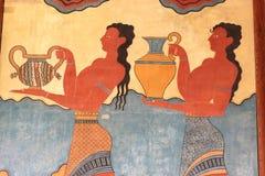 壁画knossos宫殿 免版税库存照片