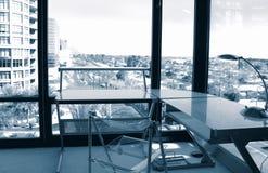 壁角办公室视图 免版税库存照片