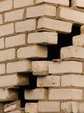 壁角变形房子 免版税库存图片