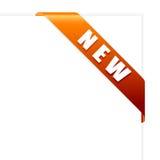 壁角新的橙色丝带向量 库存图片