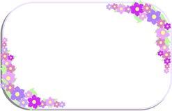 壁角框架由淡紫色花制成 库存图片