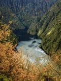 壁角河sil在秋天 库存照片