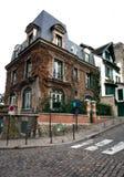壁角法国房子巴黎 免版税库存图片