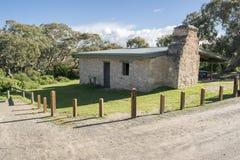 壁角看法丹尼斯小屋, Waitpinga, Newland头保护同水准 库存照片